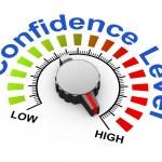 3d knob - confidence level — Stock Photo #59675847