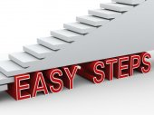 3d stairs easy steps — Foto Stock