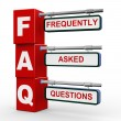 3d modern signboard of faq — Stock Photo #64448489