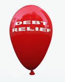 3d debt relief balloon — Foto de Stock