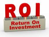 3d roi - return on investment — Stock Photo