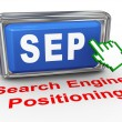 3d hand cursor sep - search engine positioning button — Stock Photo #64694009