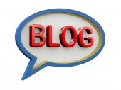 3d bubble speech blog — Stock Photo