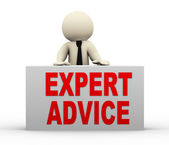 3d man - expert advice — Stock Photo