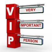 3d modern signboard of vip — Stock Photo