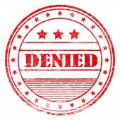 Red grunge denied rubber stamp — Stock Photo