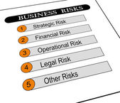 Illustration of business risks classification — Stock Photo