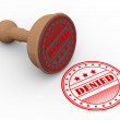 3d wooden rubber stamp denied — Stock Photo #80739110