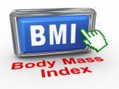 3d hand cursor bmi - body mass index — Stock Photo