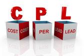 3D-box av cpl - kostnad per lead — Stockfoto