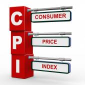 3d modern signboard of cpi — Stock Photo