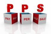 3D-box av pps - betala per försäljning — Stockfoto