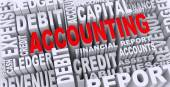3d concept of accounting word tags — Stock Photo
