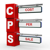 3d modern signboard of cps — Stock Photo