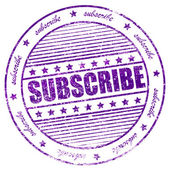 Grunge subscribe now rubber stamp — Stock Photo