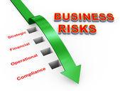 Illustration of business risks management — Stock Photo