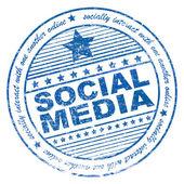 Grunge social media rubber stamp — Stock Photo