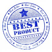 Grunge best product rubber stamp — Stock Photo