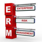 3d modern signboard of erm — Stock Photo