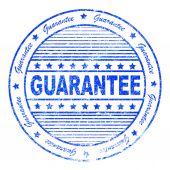 Grunge guarantee rubber stamp — Stock Photo