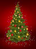 Spruce.Spruce.Christmas.New year. Card. Blank. — Stock Photo