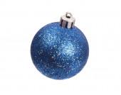 Blue spangled christmas ball — Stock Photo