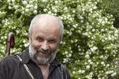 Smiling bald man with a beard — Zdjęcie stockowe