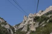 Montserrat, la funivia per il monastero — Foto Stock