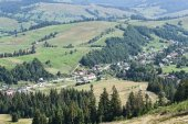 View of the mountain meadows — Stock Photo