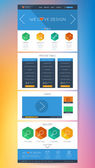 Colorful Flat UI Website Design — Stock Vector