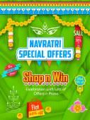 Happy Navratri Offer promotions — Stockvector