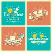 Oktoberfest celebration background — Stock Vector