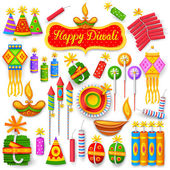 Colorful firecracker for Diwali holiday fun — Stock Vector