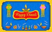 Diwali background with colorful firecracker — Stock Vector