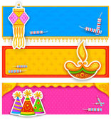 Diwali banner — Stock Vector