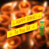 Diwali Holiday background — Stock Vector