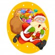 Santa Claus with bag for Christmas gift — Stock Vector #57921221