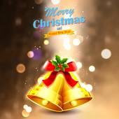 Jingle bells for Christmas decoration — Stock Vector