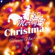 Merry Christmas and Happy New Year Background — Stock Vector #60063335