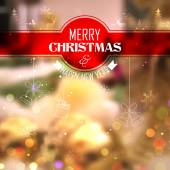Merry Christmas and Happy New Year Background — Stockvektor