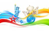 India-America relationship — Stock Vector