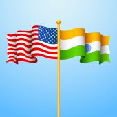 India-America relationship — Vector de stock