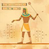 Egyptian art of human — Stock Vector