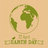 Earth Day background on crushed paper — Stock Vector