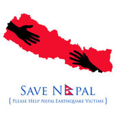 Nepal earthquake 2015 help — Stock Vector