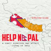 Nepal earthquake 2015 help — Vetor de Stock