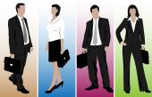 Drawings of business people — Stock Vector
