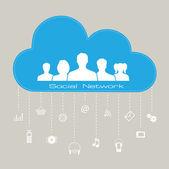Social network connection concept — Stock Vector