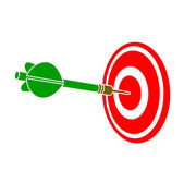 Darts dart in a target — Stock Vector