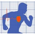 Running man symbol cardiovascular medicine — Stock Vector #54301861